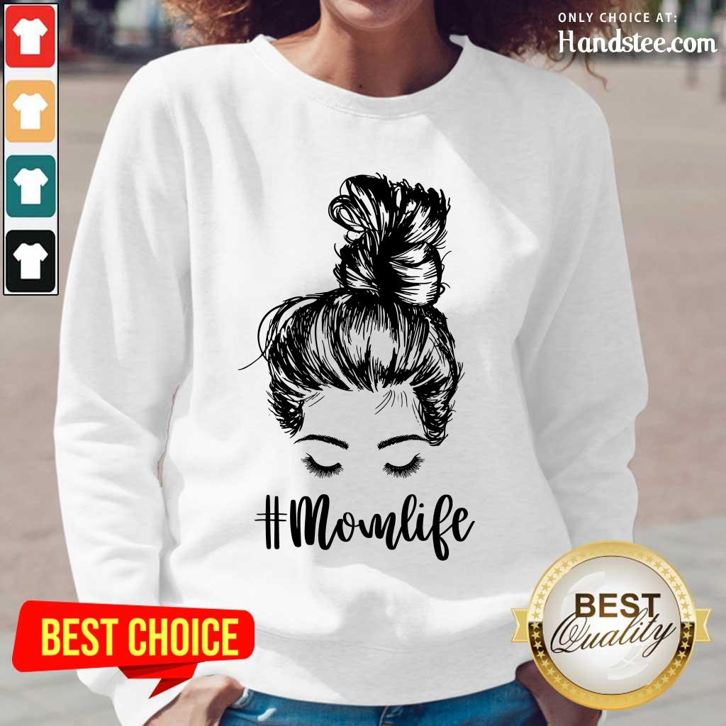Delighted Mom Life Hair In Bun Long-Sleeved