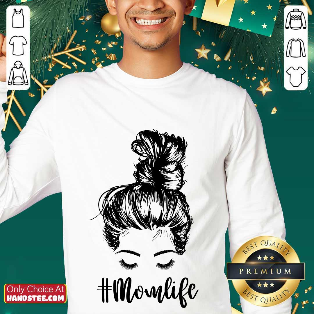 Delighted Mom Life Hair In Bun Sweater