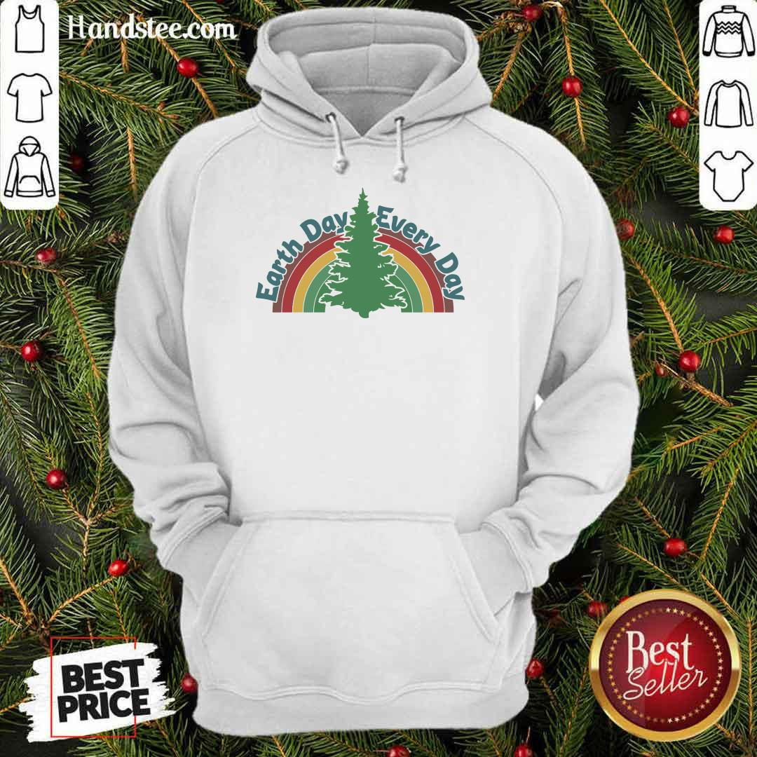 Ecstatic Earth Day Every Day Rainbow Hoodie