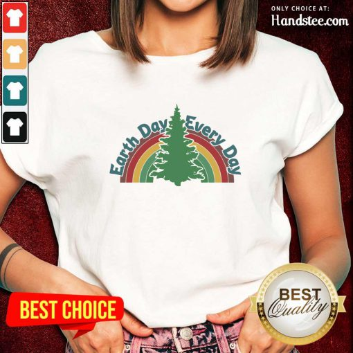 Ecstatic Earth Day Every Day Rainbow Ladies Tee