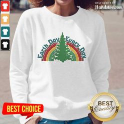 Ecstatic Earth Day Every Day Rainbow Long-Sleeved