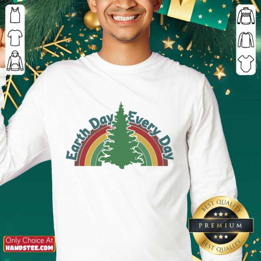Ecstatic Earth Day Every Day Rainbow Sweater