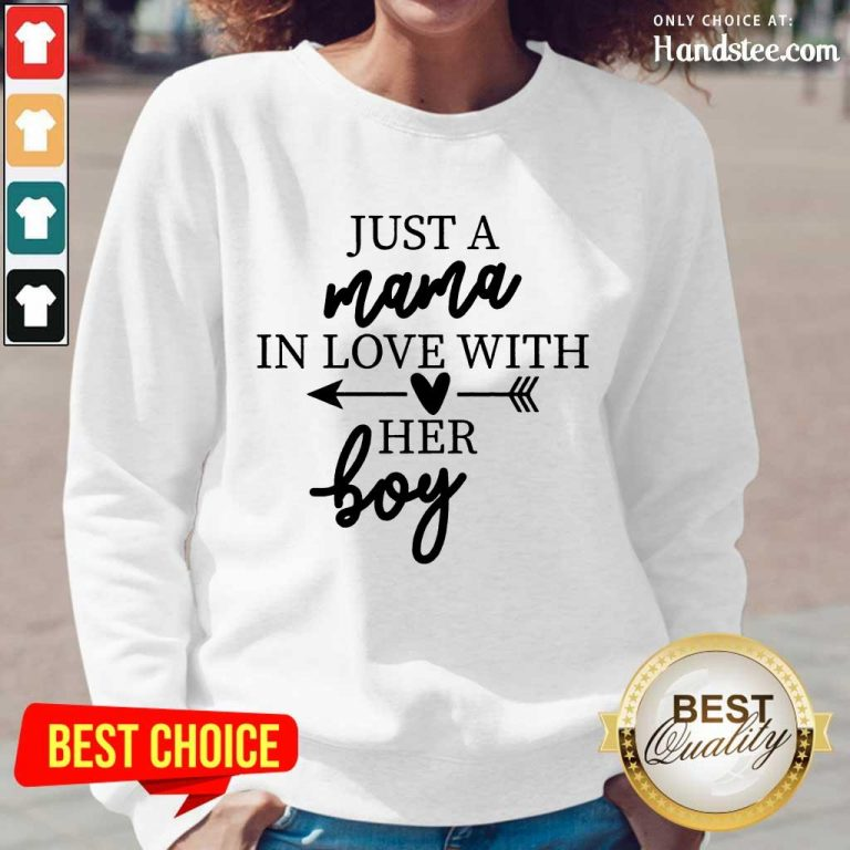 Enthusiastic Just A Mama In Love With Her Boy Long-Sleeved