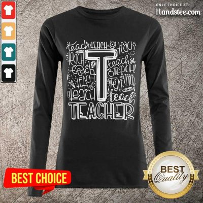 Enthusiastic Teacher Typography 2021 Long-Sleeved
