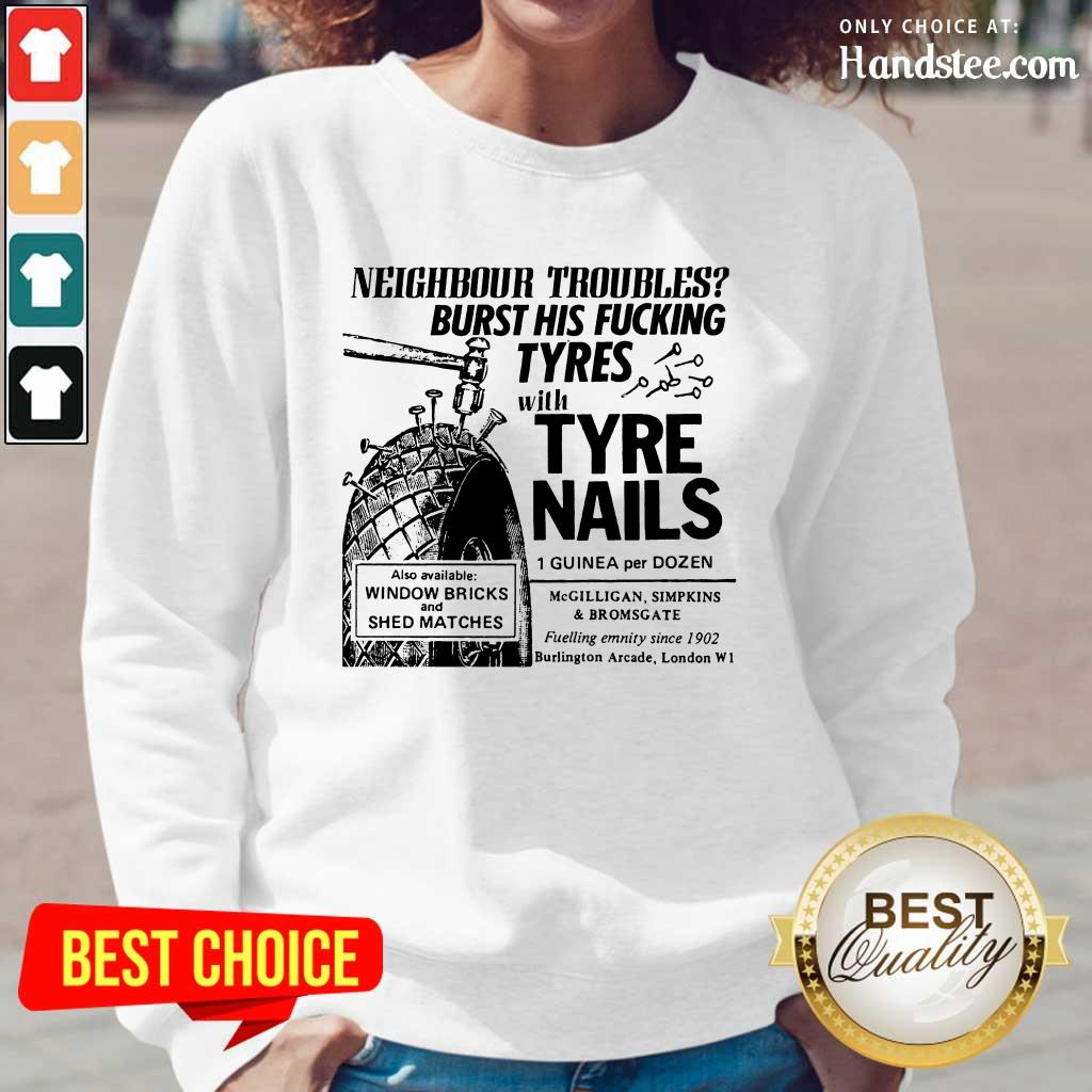 Enthusiastic Tyre Nails Long-Sleeved