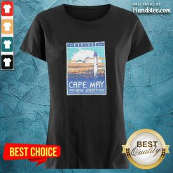 Funny Explore Cape May New Jersey Lighthouse Poster Ladies Tee