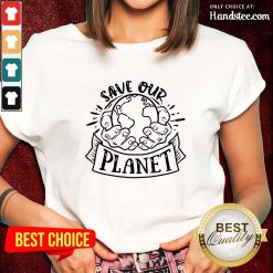 Good Holding Earth In Hands Save Our Planet Ladies Tee