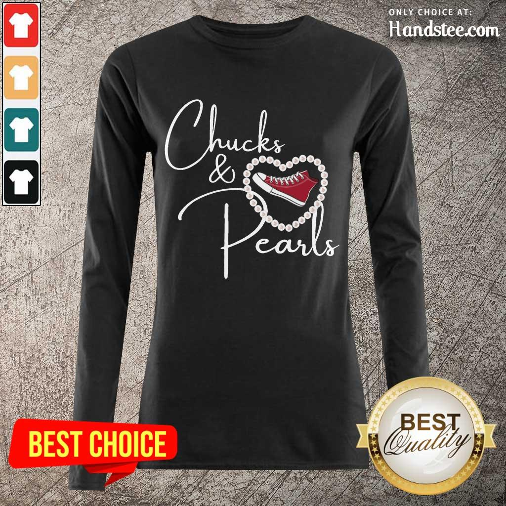 Hot Chucks And Pearls 2021 Valentine Heart Long-Sleeved