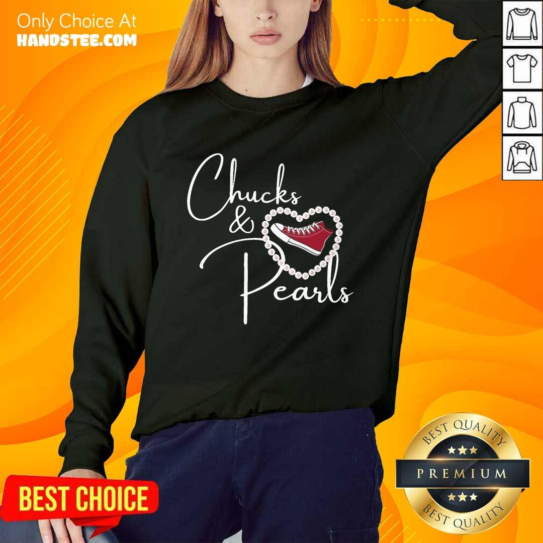 Hot Chucks And Pearls 2021 Valentine Heart Sweater