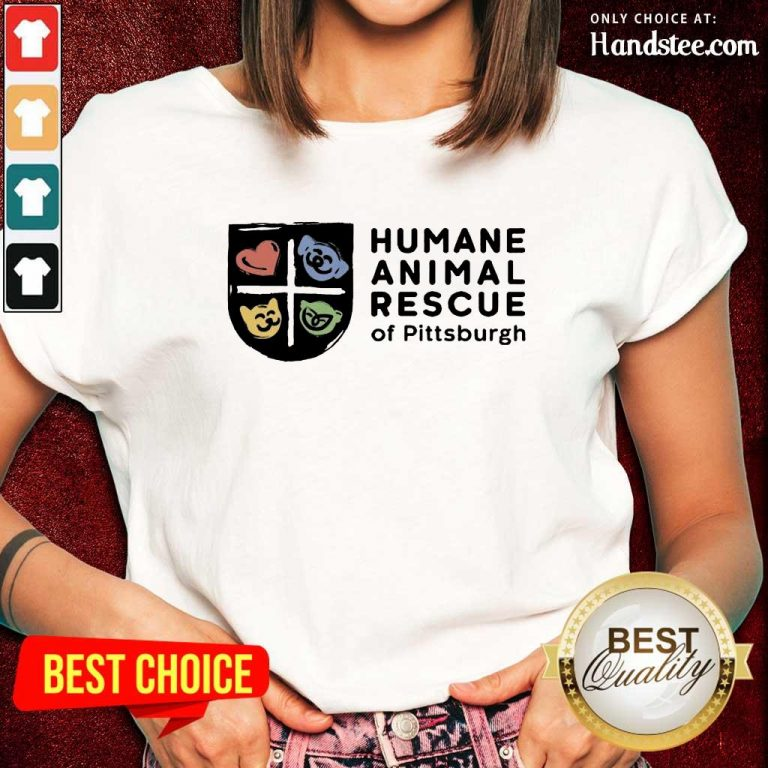 Relaxed Humane Animal Rescue Of Pittsburgh Ladies Tee