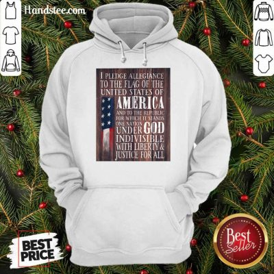 Top American Flag One Nation Under God Indivisible Hoodie