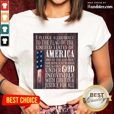 Top American Flag One Nation Under God Indivisible Ladies Tee