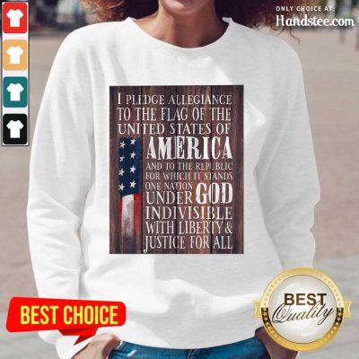 Top American Flag One Nation Under God Indivisible Long-Sleeved