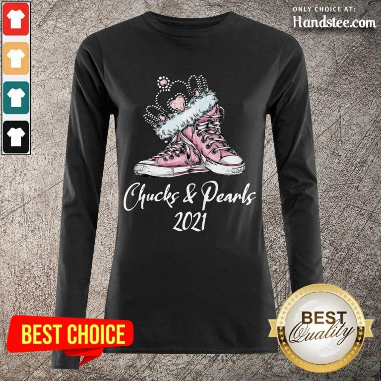 Top Chucks Crown And Pearls 2021 Pink Converse Sneakers Long-Sleeved