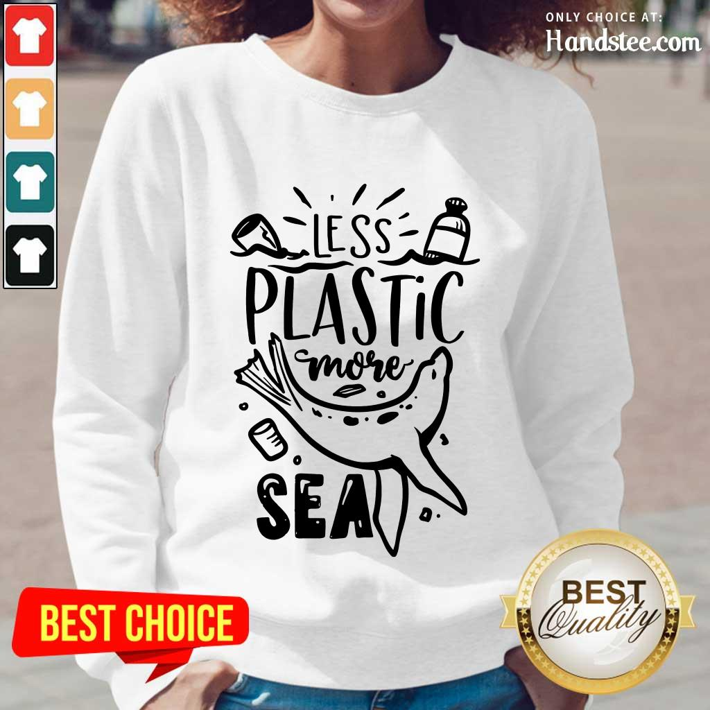 Top Less Plastic More Sea Earth Day Long-Sleeved