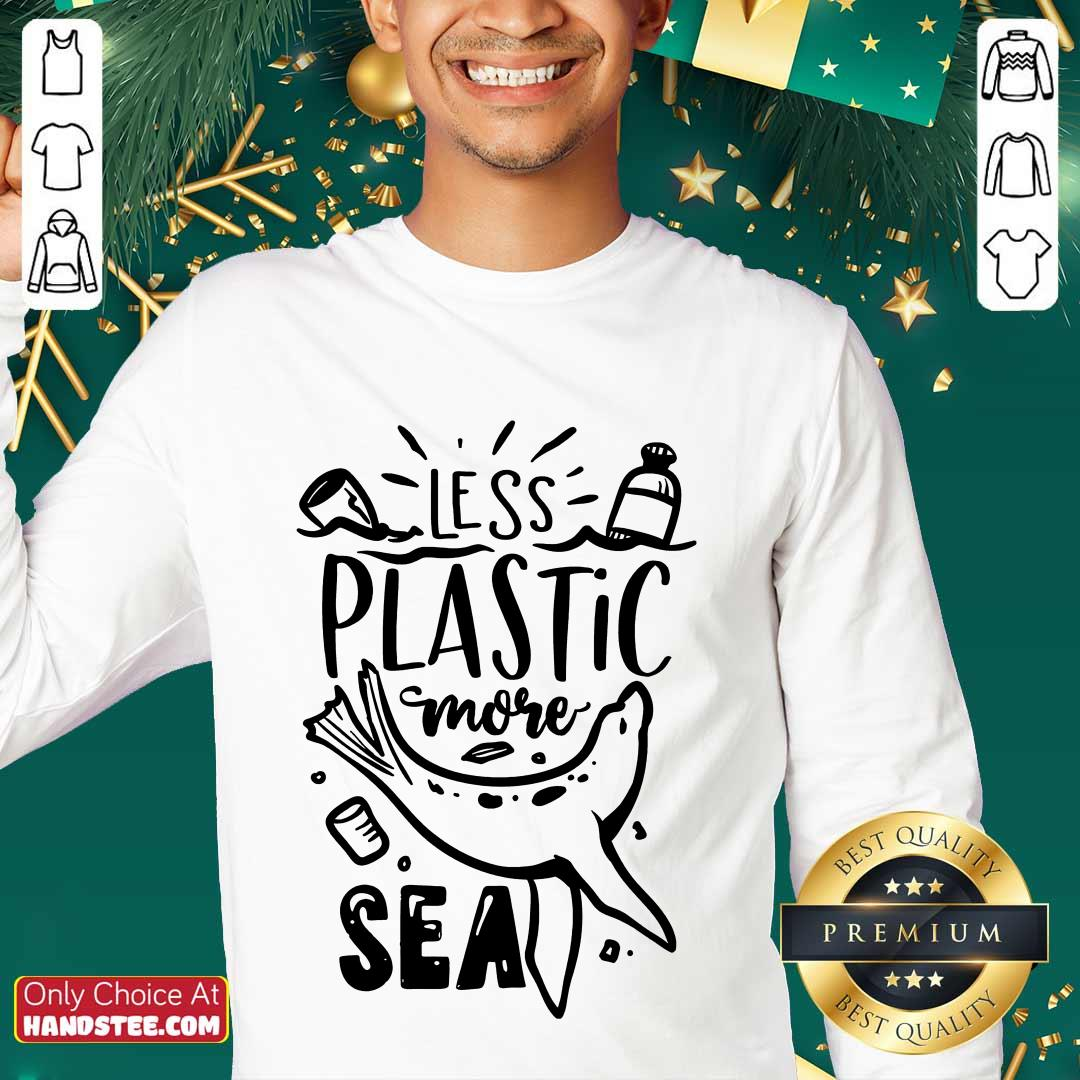 Top Less Plastic More Sea Earth Day Sweater