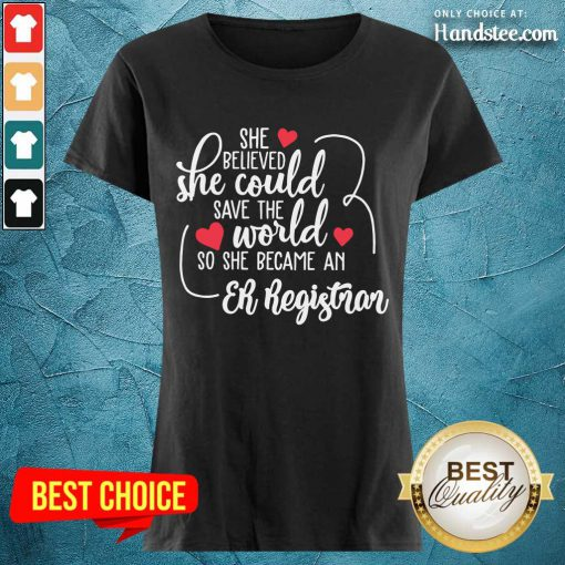 Top She Could Save The World So She Became A Er Registrar Ladies Tee