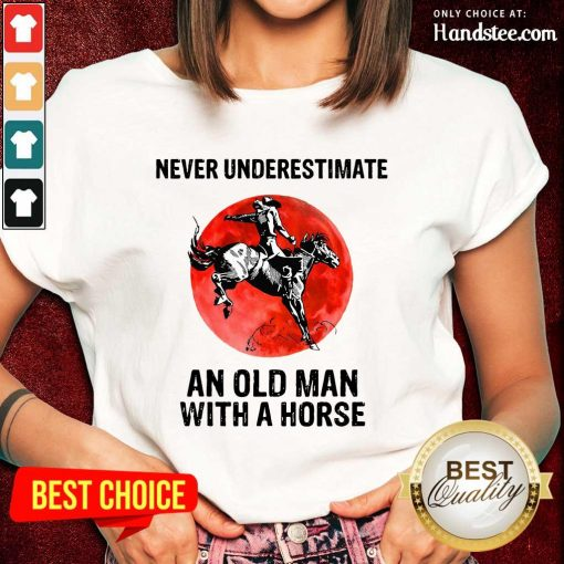 An Old Man With A Horse Ladies Tee
