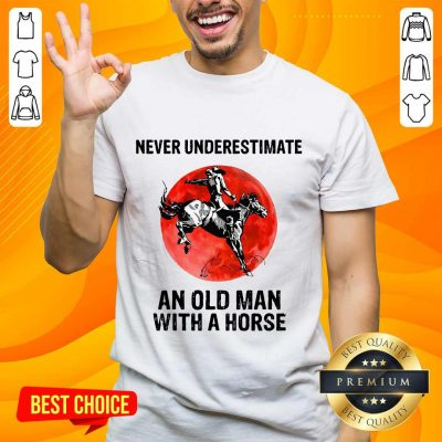 An Old Man With A Horse Shirt