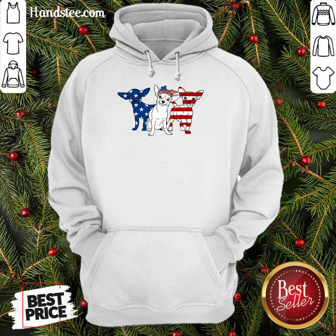 Chihuahua American Independence Day Hoodie
