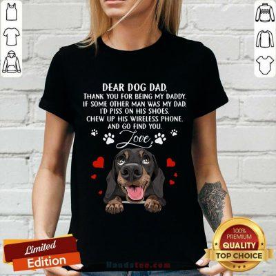 Dachshund Dear Dog Dad V-neck