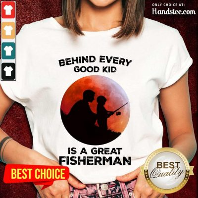 Dad And Son Fishing Is A Great Fisherman Ladies Tee