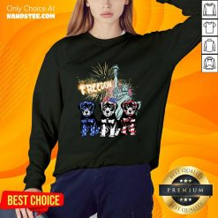 Freedom Rottweilers Statue Of Liberty USA Flag Sweater