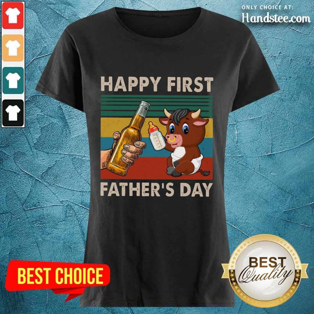 Happy First Father's Day Buffalo Ladies Tee