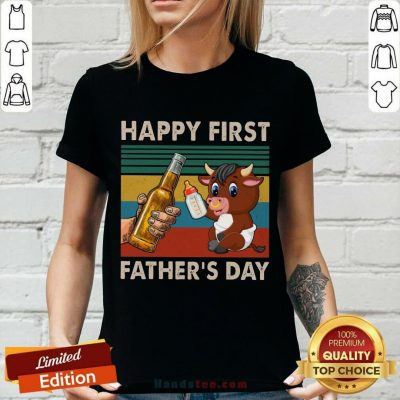 Happy First Father's Day Buffalo V-neck