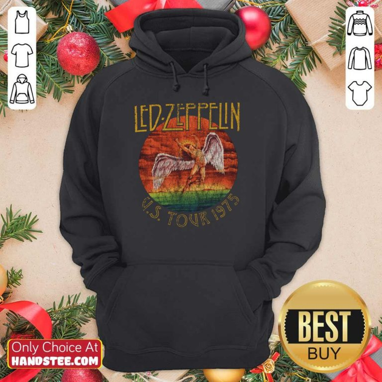 Led Zeppelin US Tour 1975 Graphic Hoodie