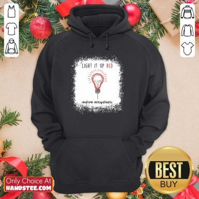 Light Up The Red Autism Acceptance Hoodie