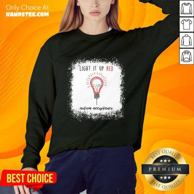Light Up The Red Autism Acceptance Sweater