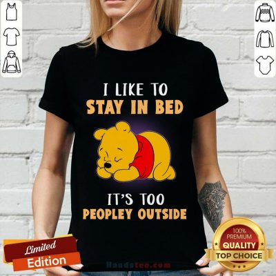 Pooh I Like To Stay In Bed V-neck