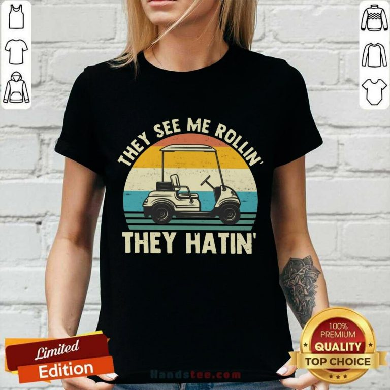 They See Me Rollin They Hatin Vintage V-neck