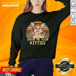 Cat Show Me Your Kitties Vintage Sweater