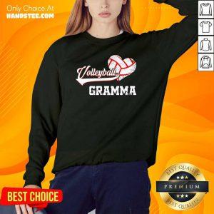 Hot Volleyball Gramma Heart Sweater