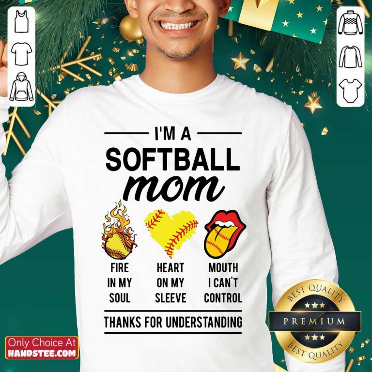 I'm A Softball Mom Fire In My Soul Sweater