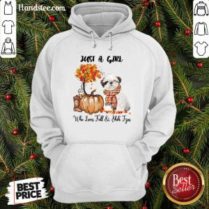 Just A Girl Who Loves Fall And Shih Tzu Hoodie