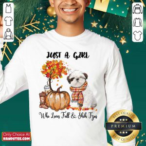 Just A Girl Who Loves Fall And Shih Tzu Sweater