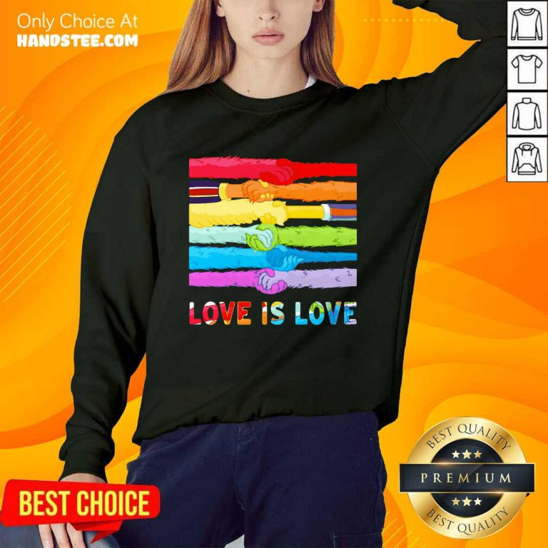 LGBT Love Is Love Hold Hand Sweater
