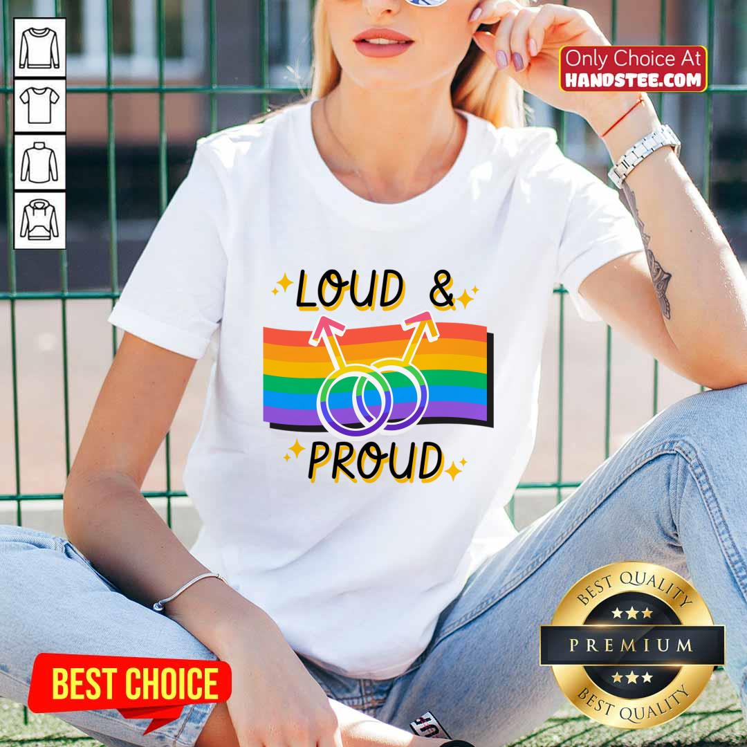 Loud And Proud LGBT V-neck