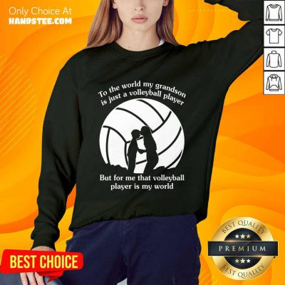 My Grandson Is Just A Volleyball Player Sweater