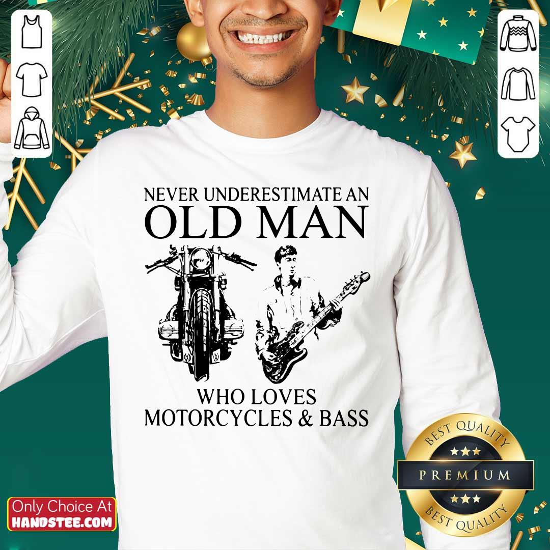 Old Man Loves Motorcycles And Bass Sweater