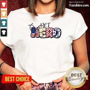 PCT Hero Nurse Doctor Medical American Flag Ladies Tee