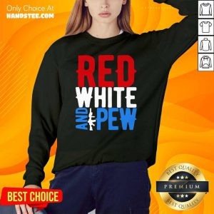 Red White And Gun Pew Sweater