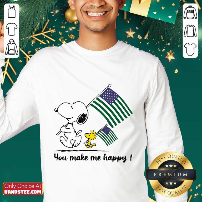 Snoopy You Make Me Happy Sweater