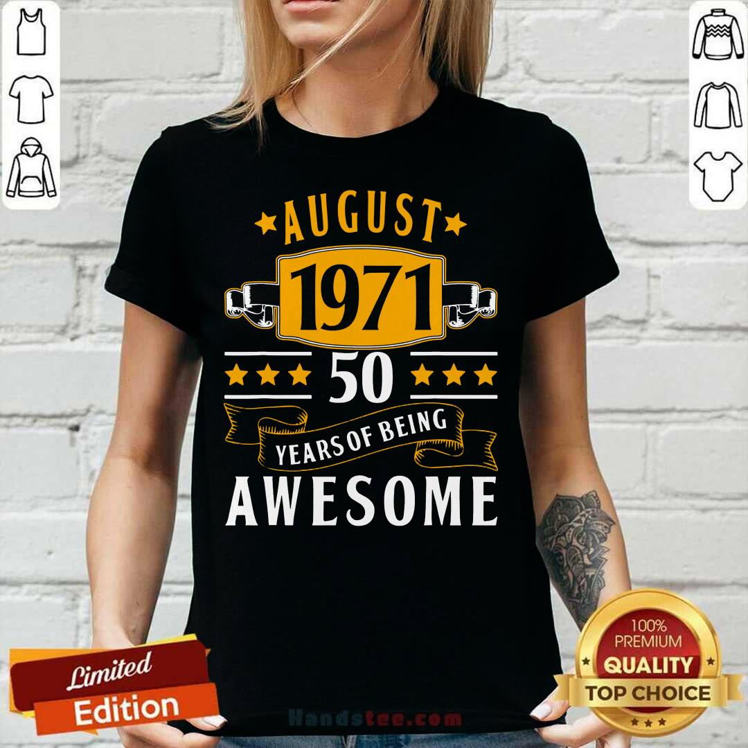 August 1971 50 Years Of Being Awesome V-neck