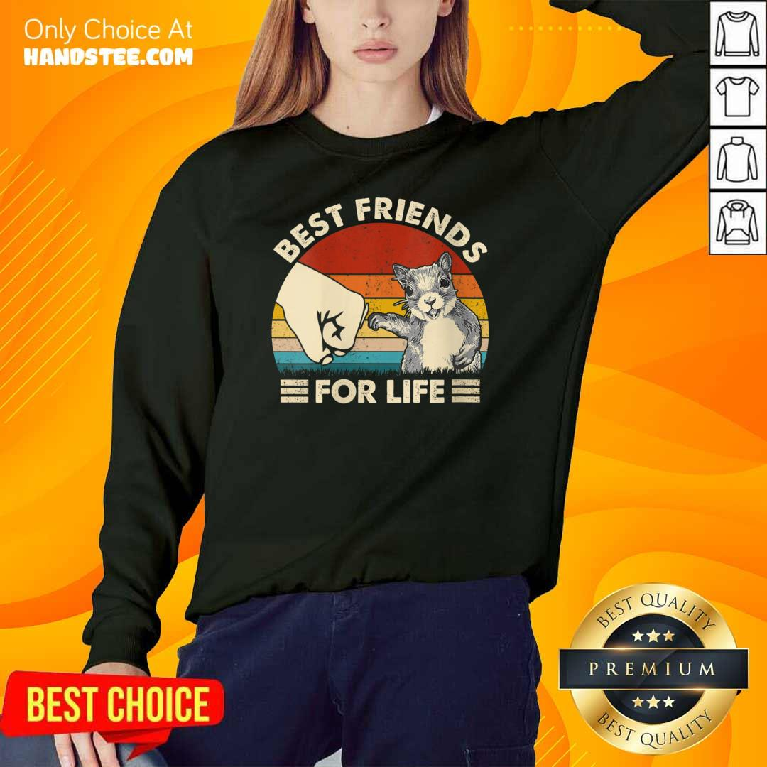 Hot Squirrel Best Friend For Life Vintage Sweater