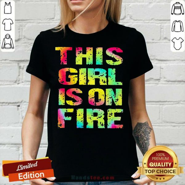 Top This Girl Is On Fire V-neck