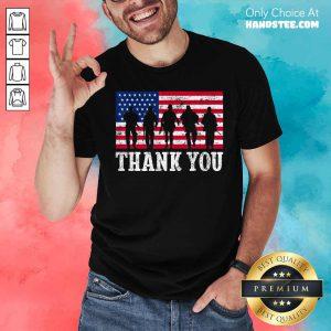 Veteran Thank You American Flag 4th Of July Shirt